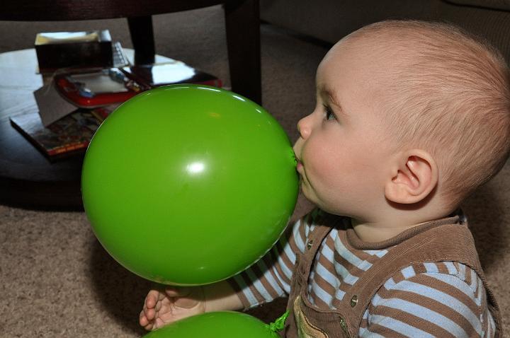 Jackson with Balloon