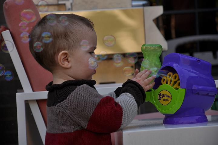 Jackson taking a closer look at the bubble machine