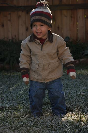 Jackson in the cold!