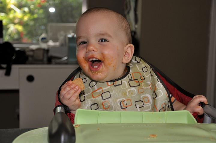 Jackson enjoying dinner