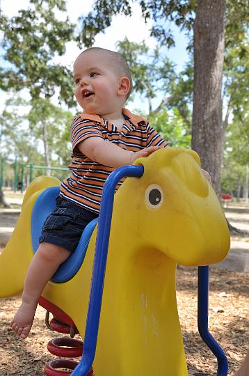 Jackson on Rocking Horse