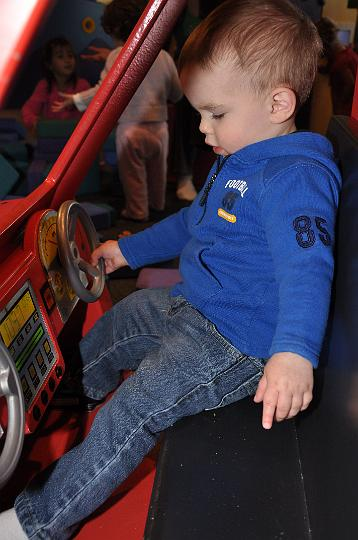 Jackson driving the pickup