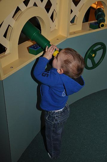 Jackson looking thru telescope