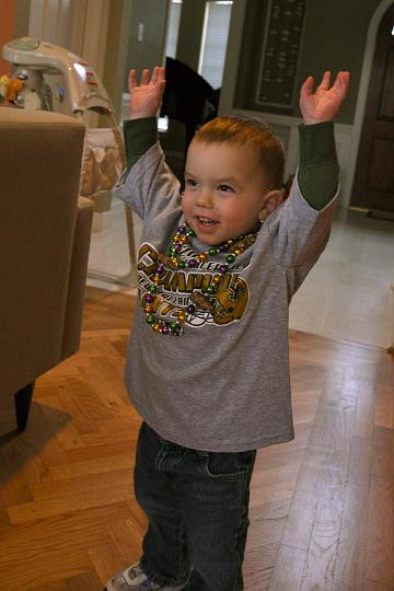 Jackson declaring the Saints Super Bowl victory