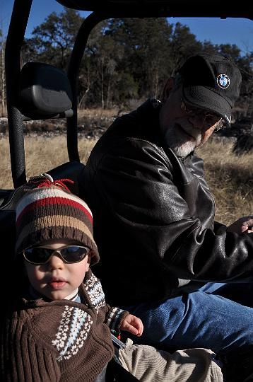 JD and Granddad on the ranch