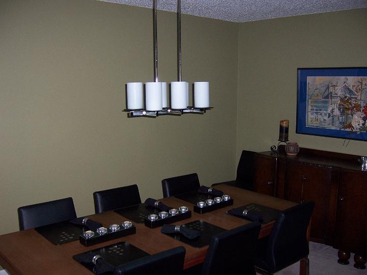 new chandelier in room