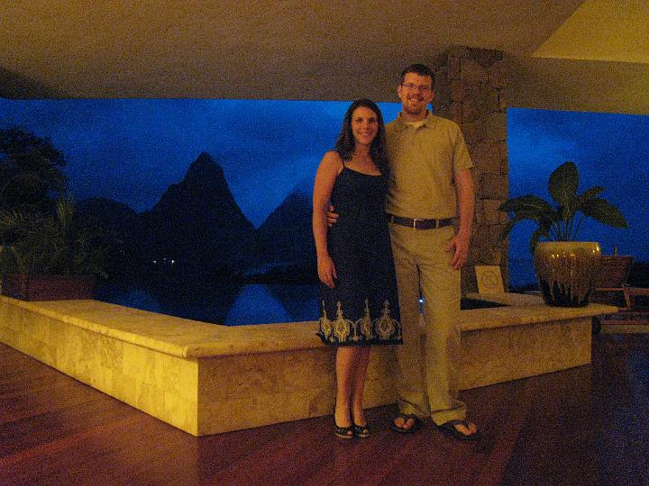E& R in Jade Mountain Room before Dinner