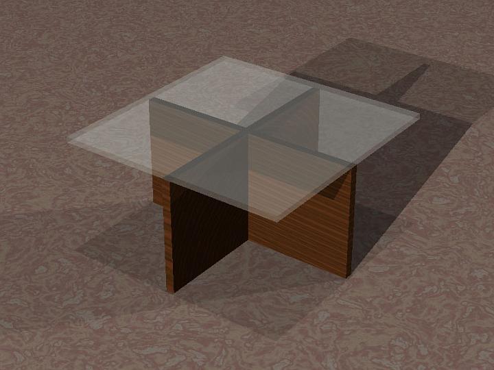 table design in POV-Ray