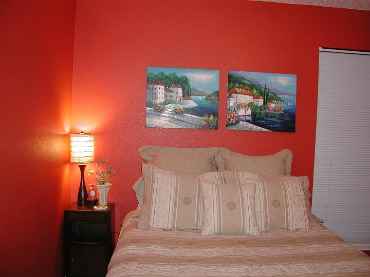 guest bedroom picture after painting