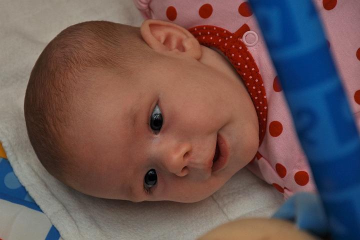 Audrey Smiling @ 7 Weeks
