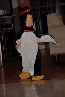 Jackson in Penguin outfit