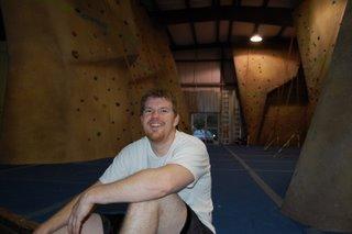 Ross after climbing